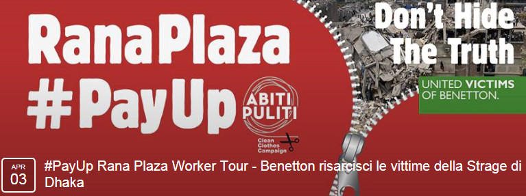 #PayUp Rana Plaza Worker Tour